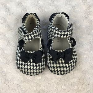 Pediped Houndstooth Baby Girl Shoes 6-12 Months